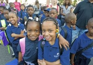 Happy second-graders at one of Mastery's 24 schools in Philadelphia and Camden.